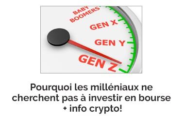 Les milléniaux boudent-ils la bourse? + INFO CRYPTO