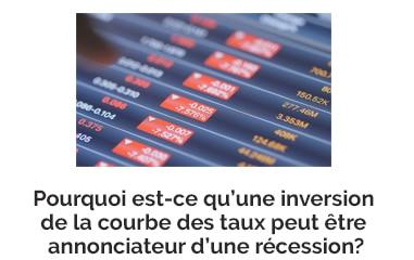 Pourquoi est-ce qu'une inversion de la courbe des taux peut être annonciateur d'une récession?